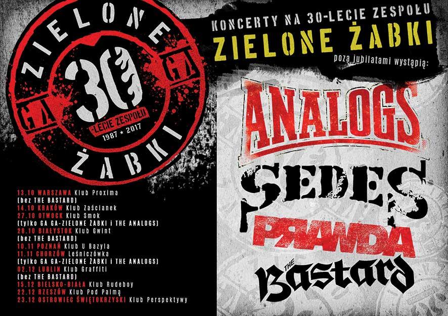 Trasa Ga-Ga ZŻ XXX-lecieTrasa koncertowa na XXX-lecie Ga-Ga Zielone Żabki