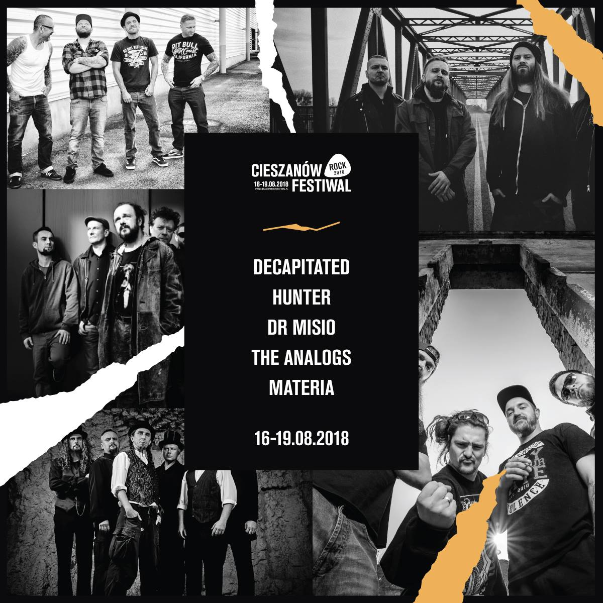 Cieszanów Rock Festiwal 2018 - line up.