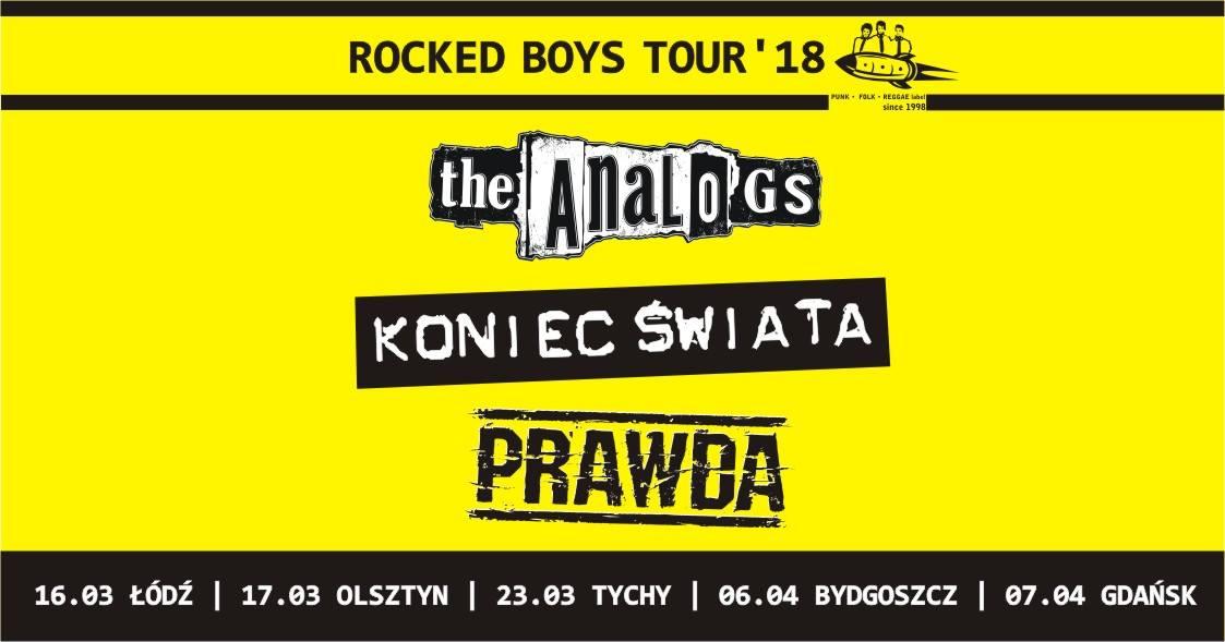Trasa Rocked Boys Tour 2018-zagrają Analogs, Prawda, Koniec Świata.