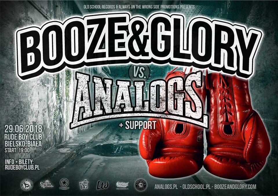 Koncert Analogs i Booze&Glory 2018 Bielsko-Biała.